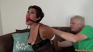 Short-Haired MILF Bondage Porn Video