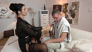 Brunette wife Ania Kinski spreads her legs to abhor fucked balls unfathomable cavity
