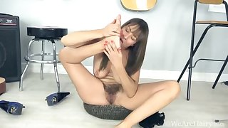 Elena V masturbates after fitting give one's eye-teeth - Compilation - WeAreHairy