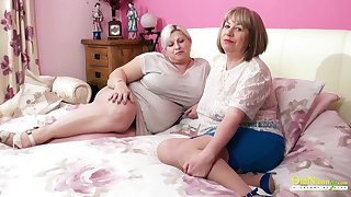 OLDNANNY Busty Mature Ladies Carrying-on Lesbian Rejoicing