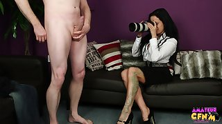Amateur video be required of a dude getting his Hawkshaw sucked by Sasha Rose