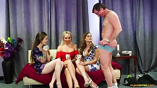 CFNM flick concerning cock hungry babes Kylie Nymphette and Louise Lee