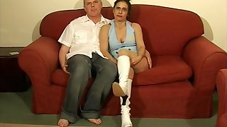 Adorable brunette Anna Milf spreads her frontier fingers to be fucked on every side missionary