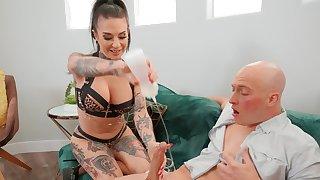 Hardcore fucking with tattooed MILF Joanna Angel - Foot fetish