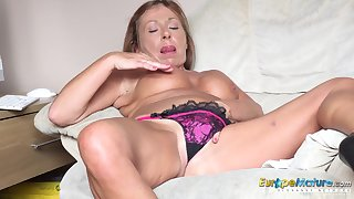 Masturbation be advisable for one horny british of age redhead perfectly captured on camera