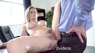 PUREMATURE Adult Manager Gives Up Anal To Interviewer