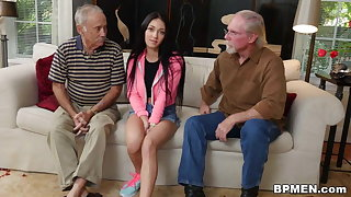 Crystal Rae Fucks The Hell Out Of Old Man!