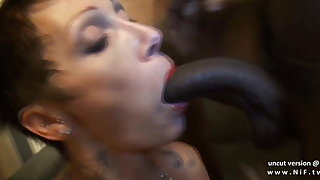Busty french mature hard sodomized in interracial 3way