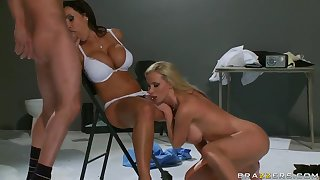 Johnny Sins, Lisa Ann, Nikki Benz and Scott Nails