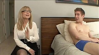 Nephew fuck his aunt - Nina Hartley - More on footjobs-tube.com