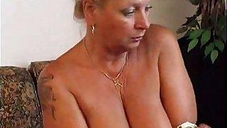 Hot Granny Masturbates