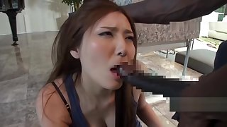 Hot Asian MILF Gets Big Black Dick