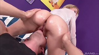 Casting milf swallows her first load