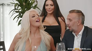 hot divas Lela Stardom and Nicolette Shea share hard friend's penis