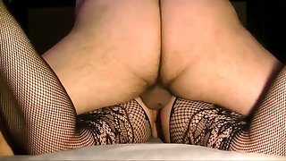 Amateur girl fucked in crotchless leggings