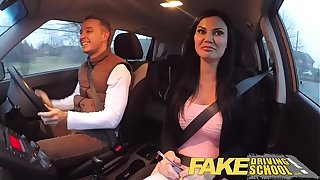 Fake Driving School exam failure ends in trinity double creampie