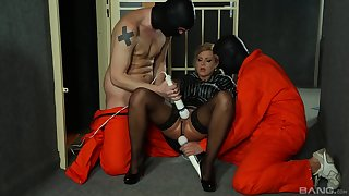 Rough maledom play for the astonishing blonde whore
