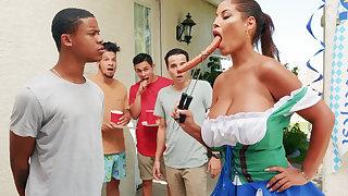 Hardest Oktoberfest group sex for drunk spliced