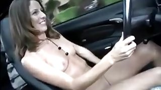 Pretty Young Girls drive defoliate and masturbate - public