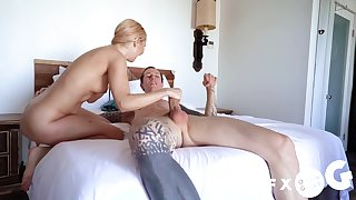 Cock hungry model Aaliyah A torch for craves for a monster white prick