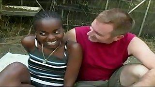 Cute Ebony 18Yo Marcella Carioca Nailed By A White Guy