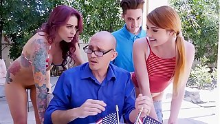 BANGBROS - Awesome 4th Be required of July Threesome Regarding Monique Alexander, Adria Rae & Juan El Caballo Loco