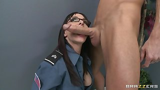 Office fucking on the floor increased by table with secretary Cytherea