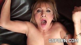 Hot matured milf Luna Azul fucked by a rough young cock