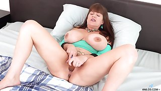 Alone prex housewife Rebecca Exalt gets rid of panties around tease their way wringing wet pussy