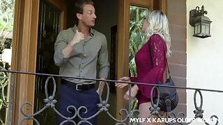 Sexy bosomy guest Katie Morgan sleety to be hot and hoggish bitch