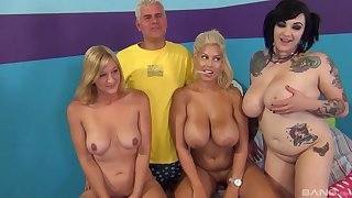 Bridgette B and her horny friends realize fucked by one serendipitous dude