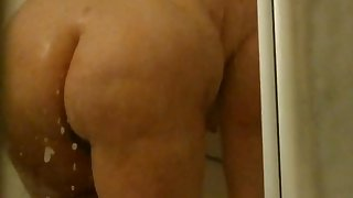 Fat brunette wife deliberately showed in the flesh naked in my presence.