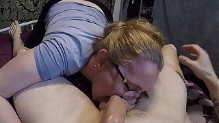 Milf gives a blowjob lesson