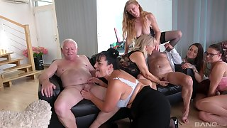 Wild group sex all over full-grown sluts Daphne Klyde and Nicole Love